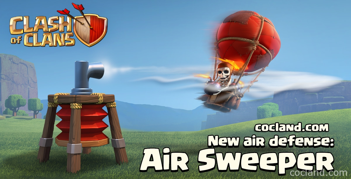 air sweeper clash of clans
