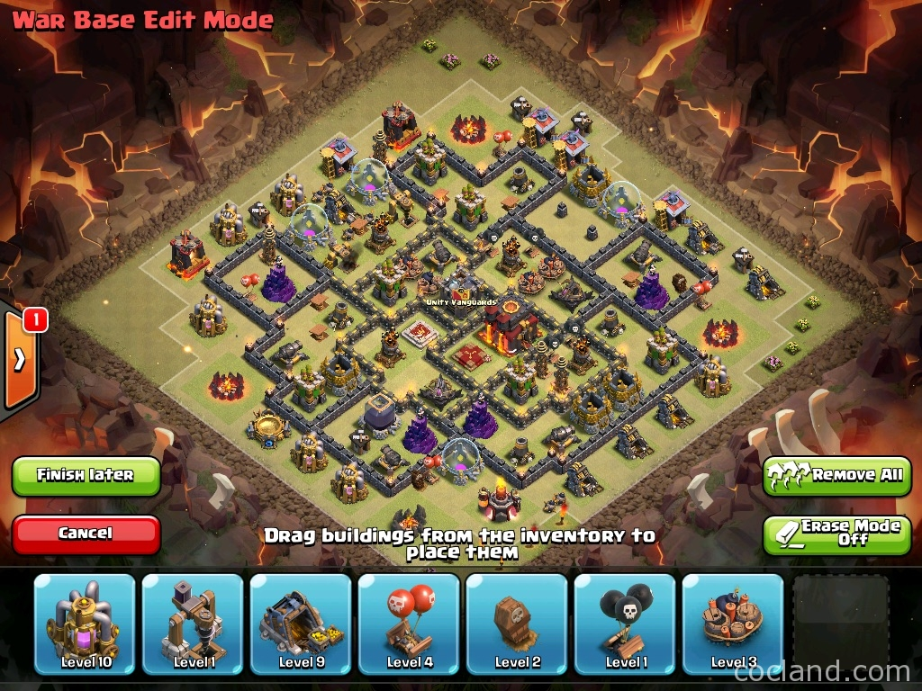 Anti 3-Stars War Base for Town Hall 9