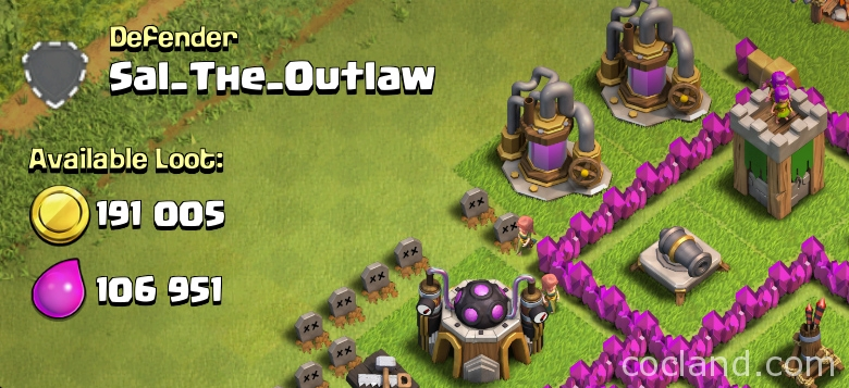 Clash of Clans available loot