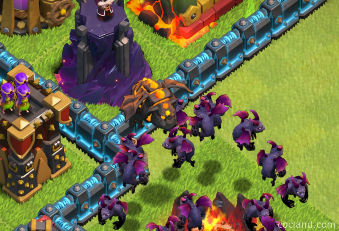 Clash of Clans Lava Hound and Minions