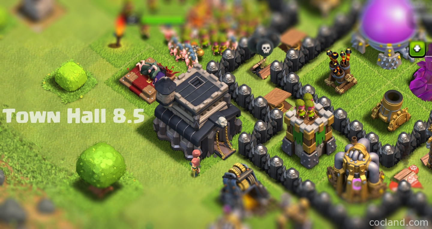 town hall 8 5 and 9 5 guide clash of clans land