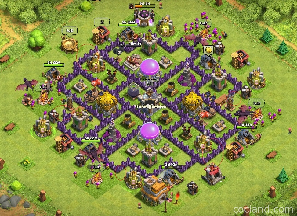 Trion Farming Base TH 7 reworked version