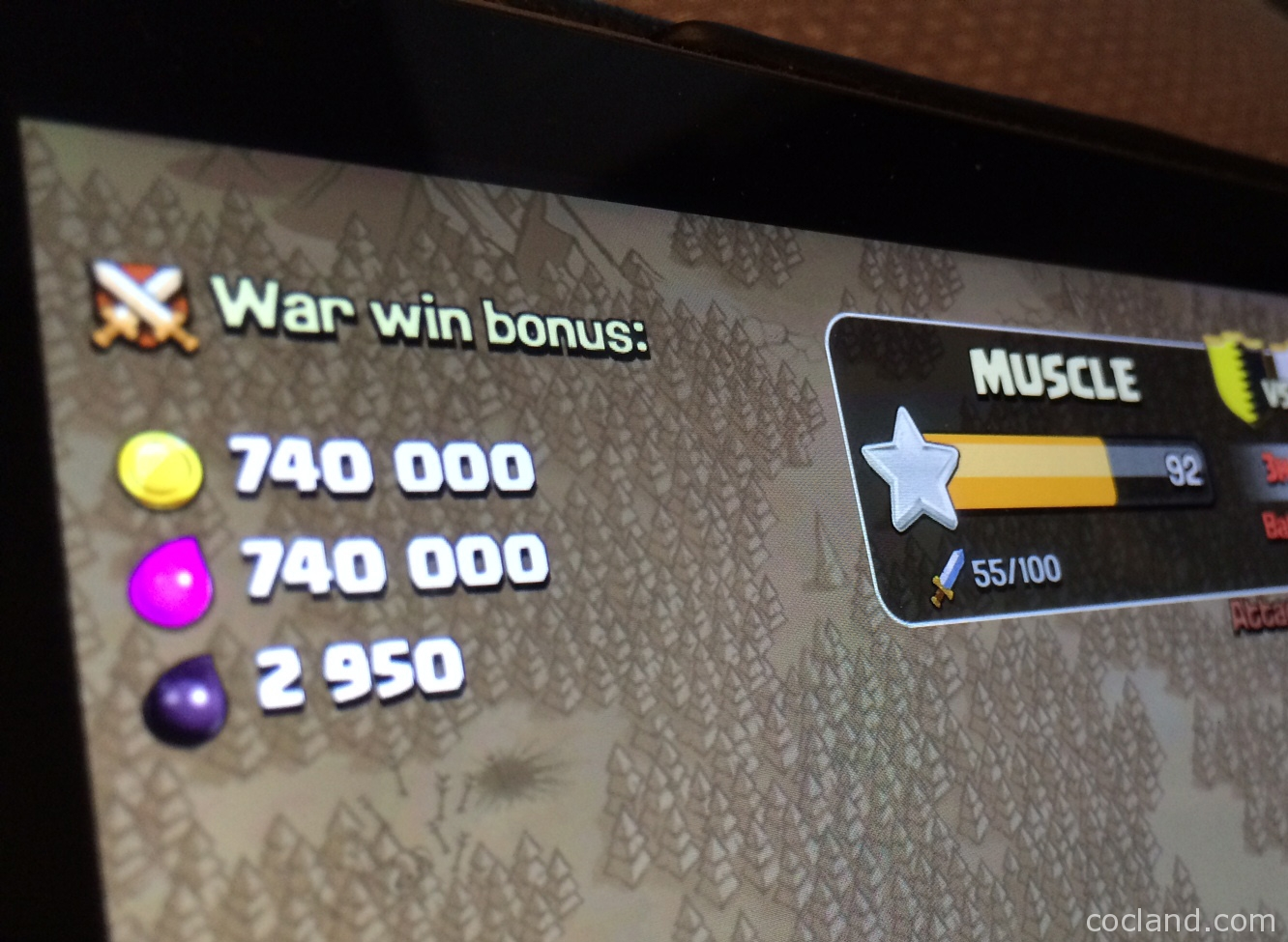 War win bonus