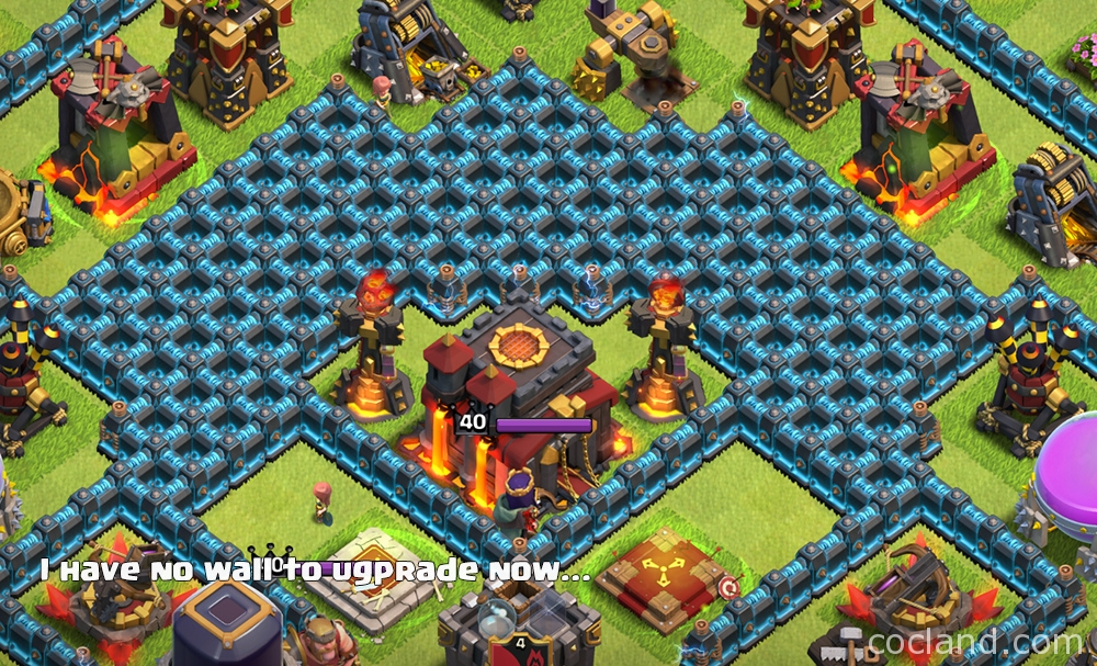 Beautiful Clash of Clans level 11 walls