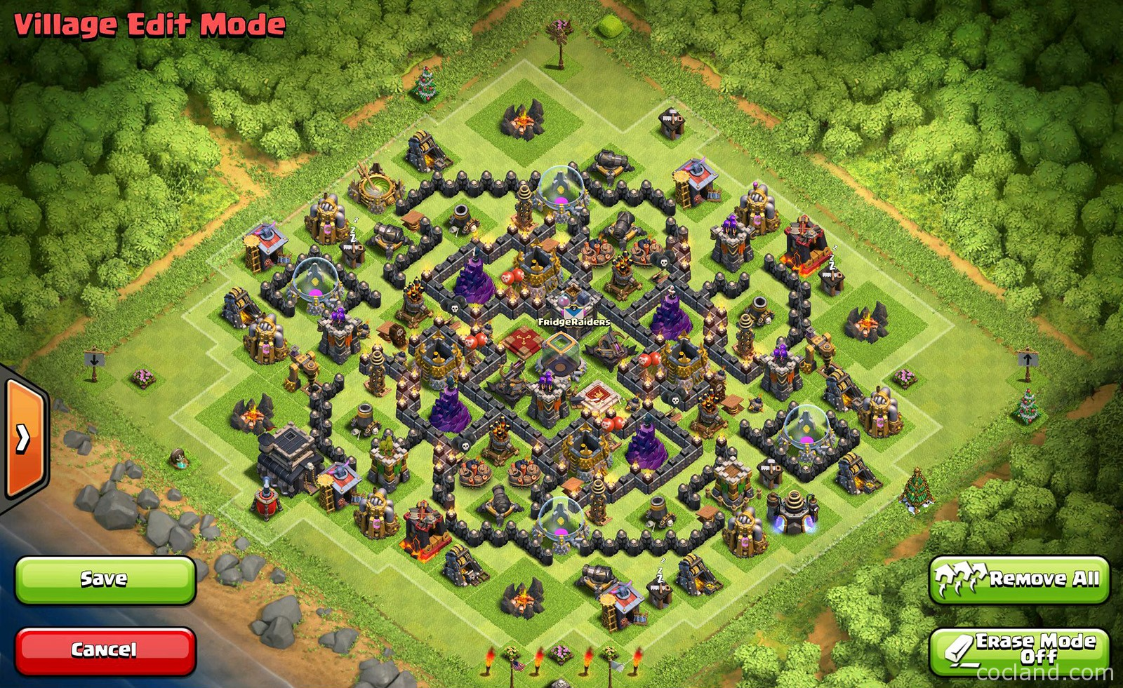 Anti Giant Barch TH9 Farming Base