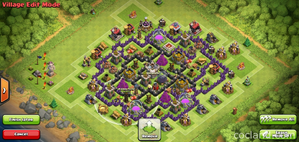 Asymmetrical TH8 Farming Base