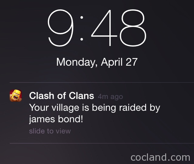 Clash of Clans Notifications