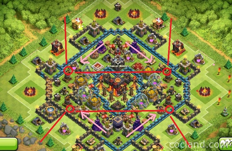 Heart Of A Champion: TH10 War Base Anti-Golem/LavaLoon