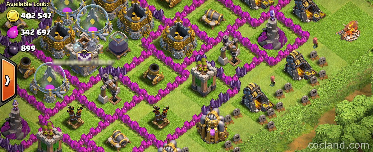 An idle Vilalge in Clash of Clans