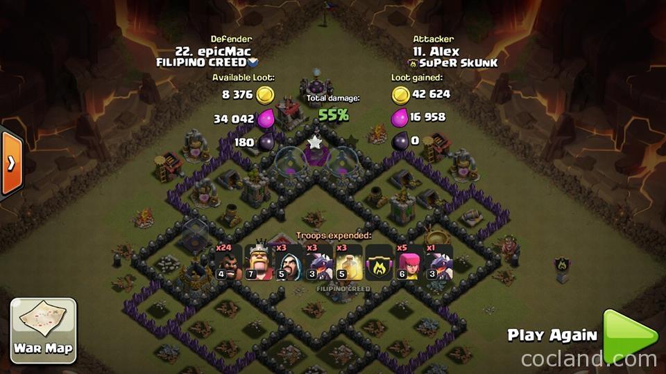 th8 war base kyoukai anti hogs gowipe clash of clans land