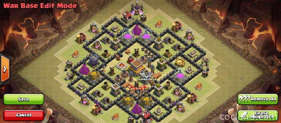 Base Coc Th 8 Terkuat War 10
