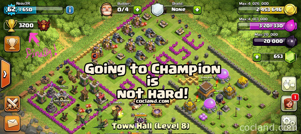 Town Hall 8 at Champion League!