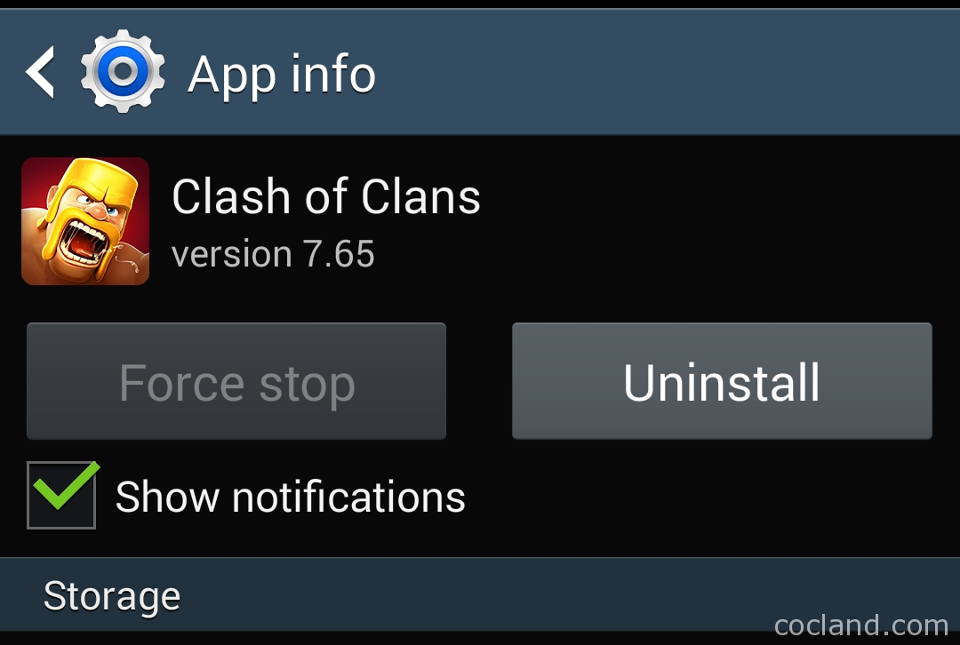turn off Clash of Clans notifications on Android