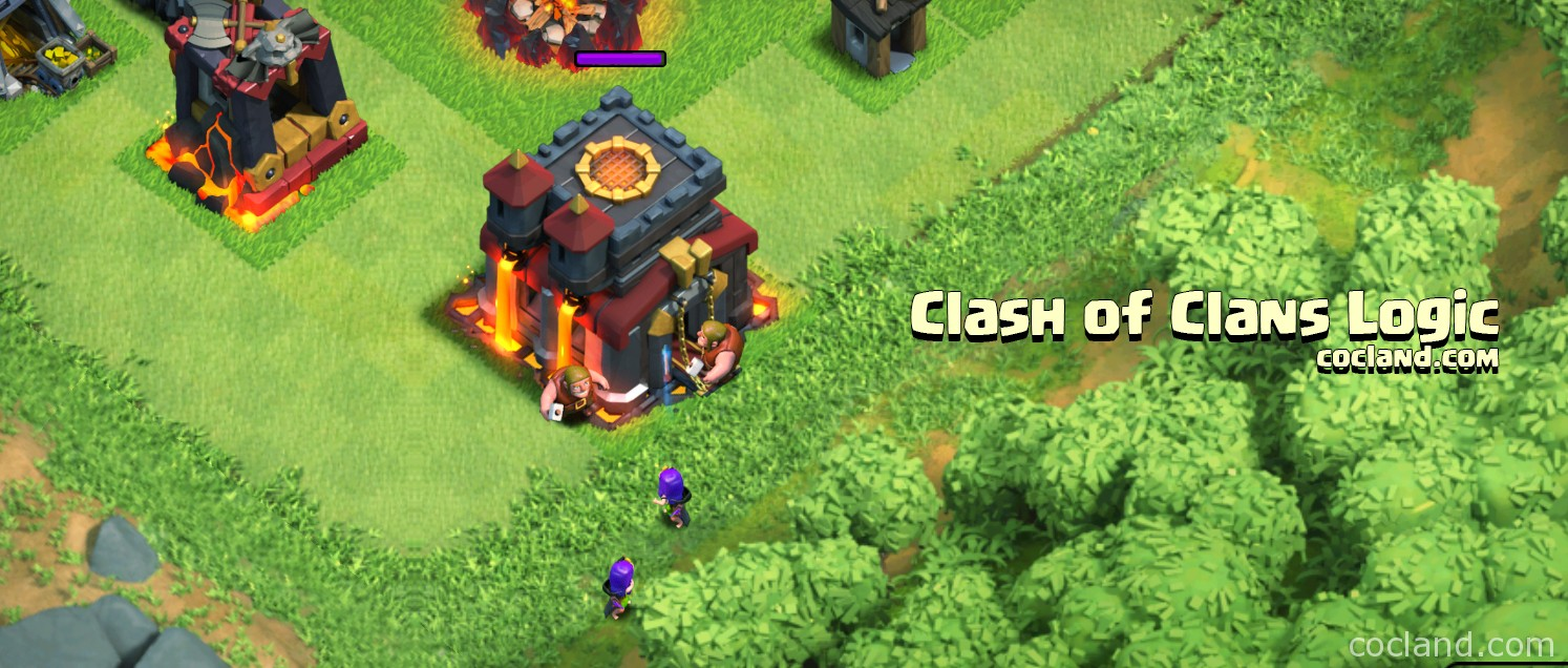 clash of clans logic coc land
