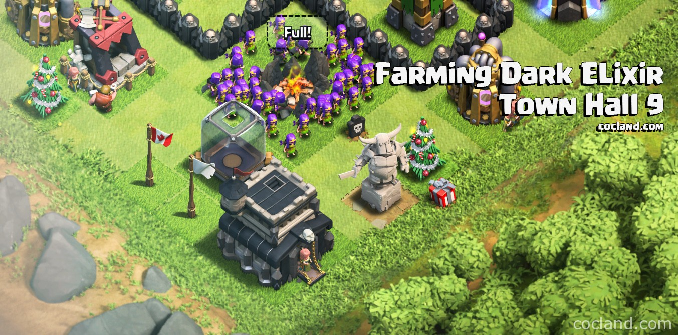 Farming Dark Elixir at Town Hall 9
