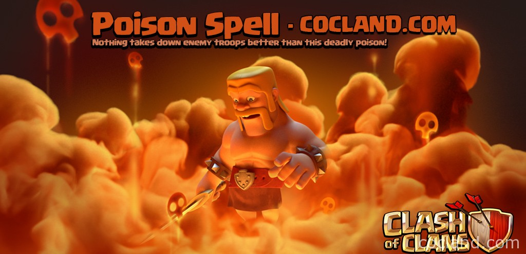 New Clash of Clans Poison Spell