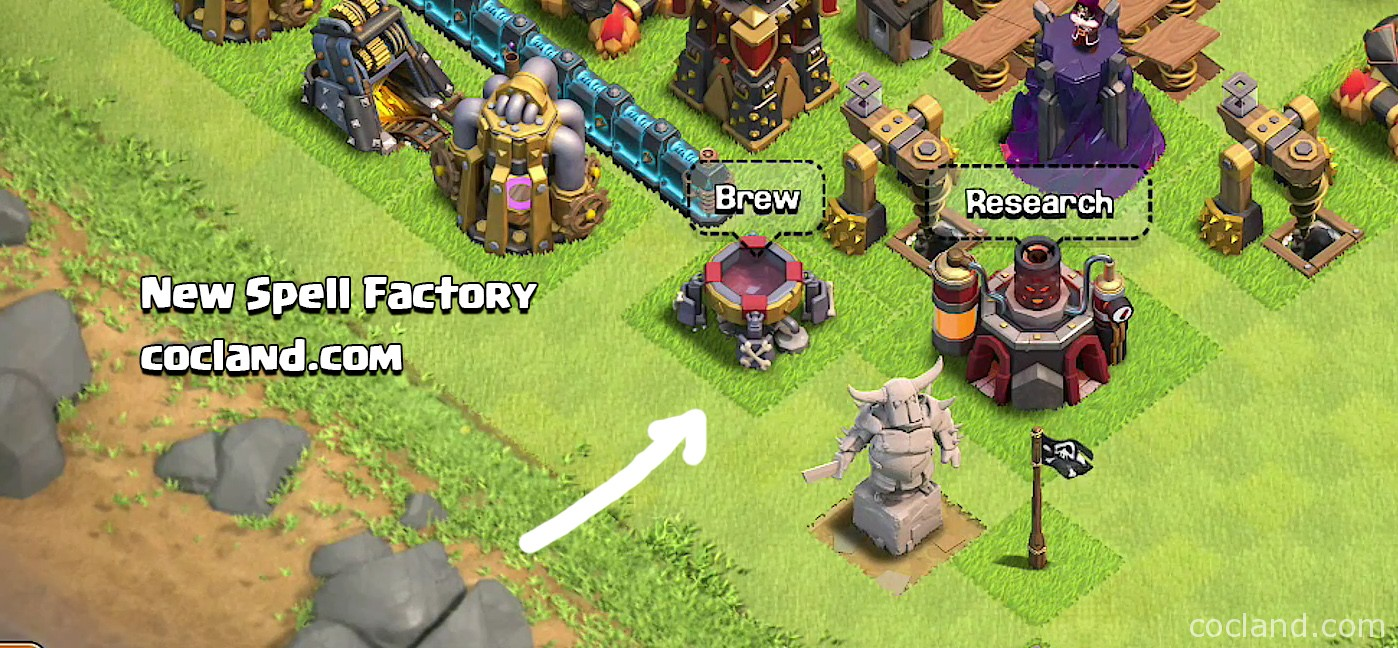 New Spell Factory in game
