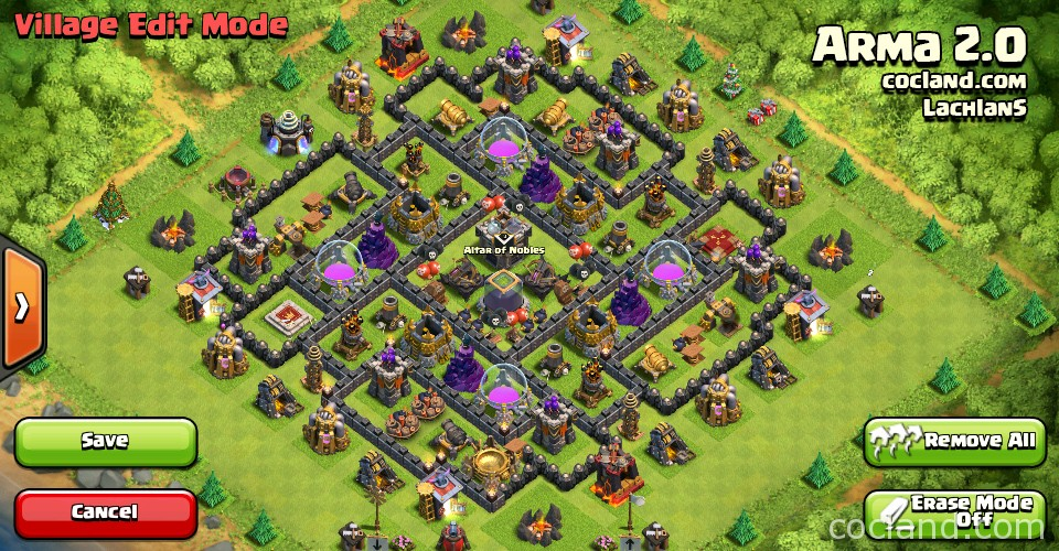 Best Coc Th 9 Farming Base 2