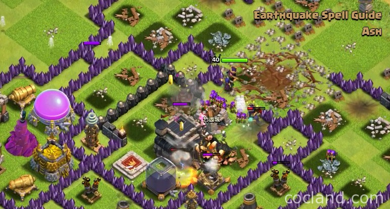 Attacking with Earthquake Spell