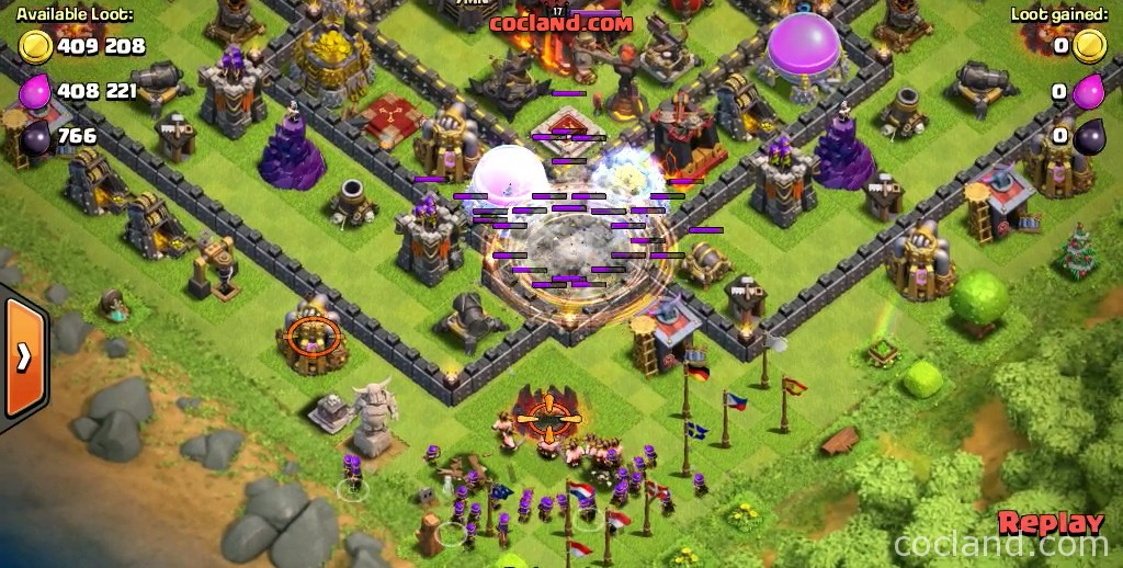 How To Use The Earthquake Spell Clash Of Clans Land