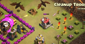 Cleanup Troops in Clash of Clans