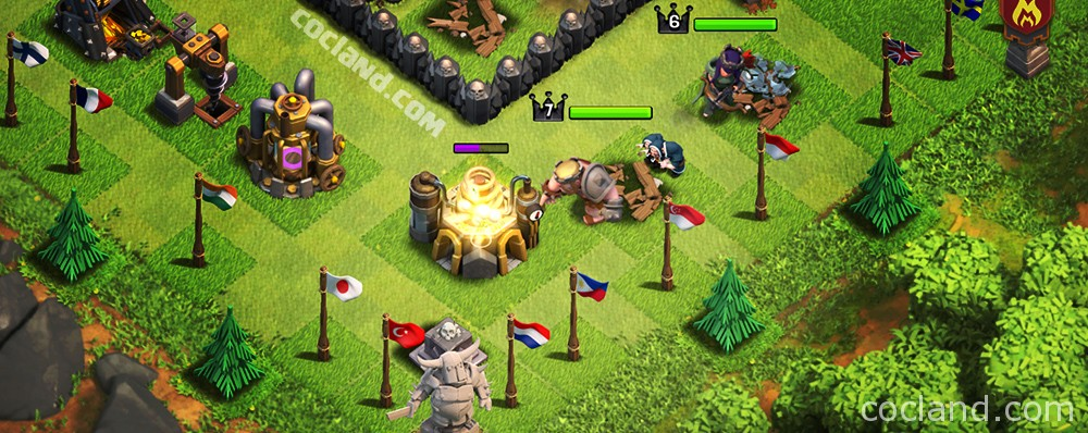 A raid in Clash of Clans