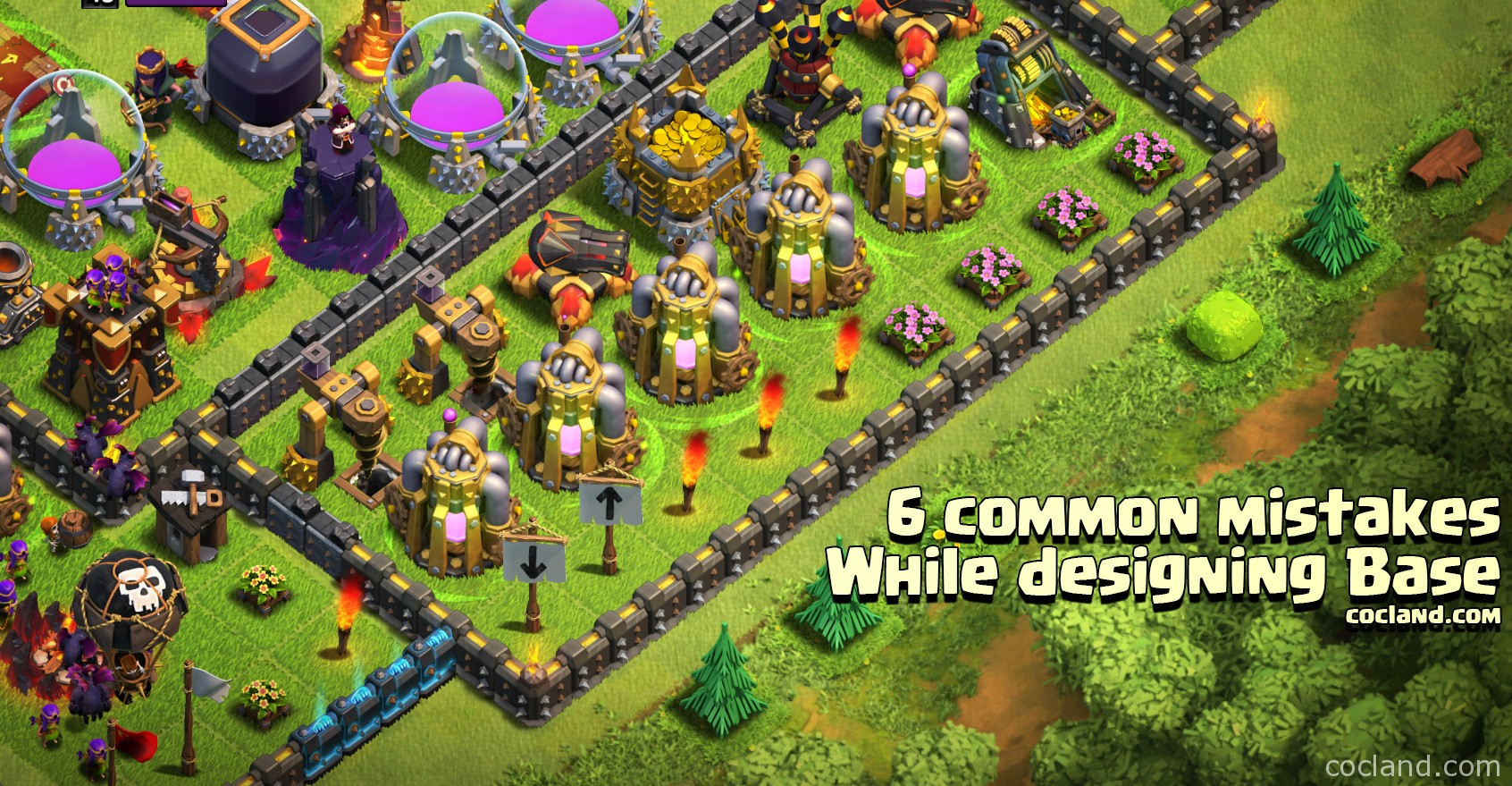 Common Mistakes while designing base in Clash of Clans