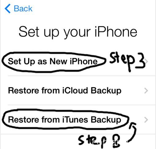 Restore iOS 8