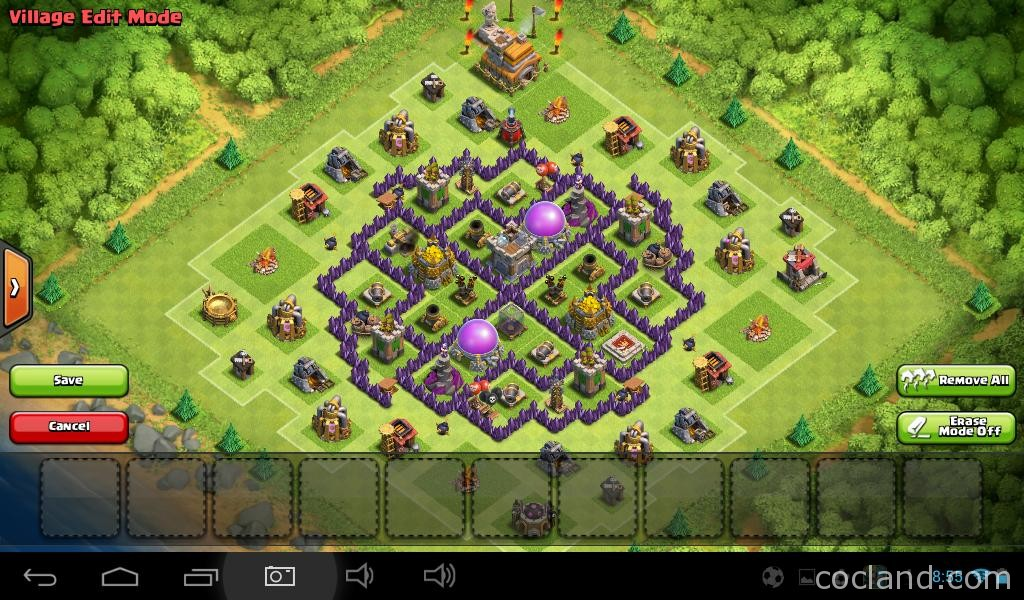 Southern Star Farming Base for Town Hall 7
