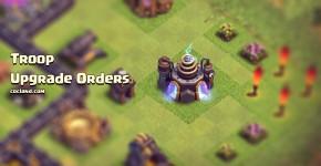 Clash of Clans troop upgrade orders