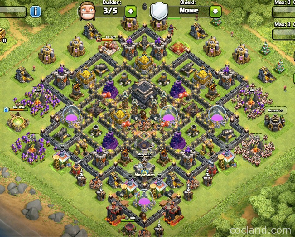 Town Hall 9 Troll Base