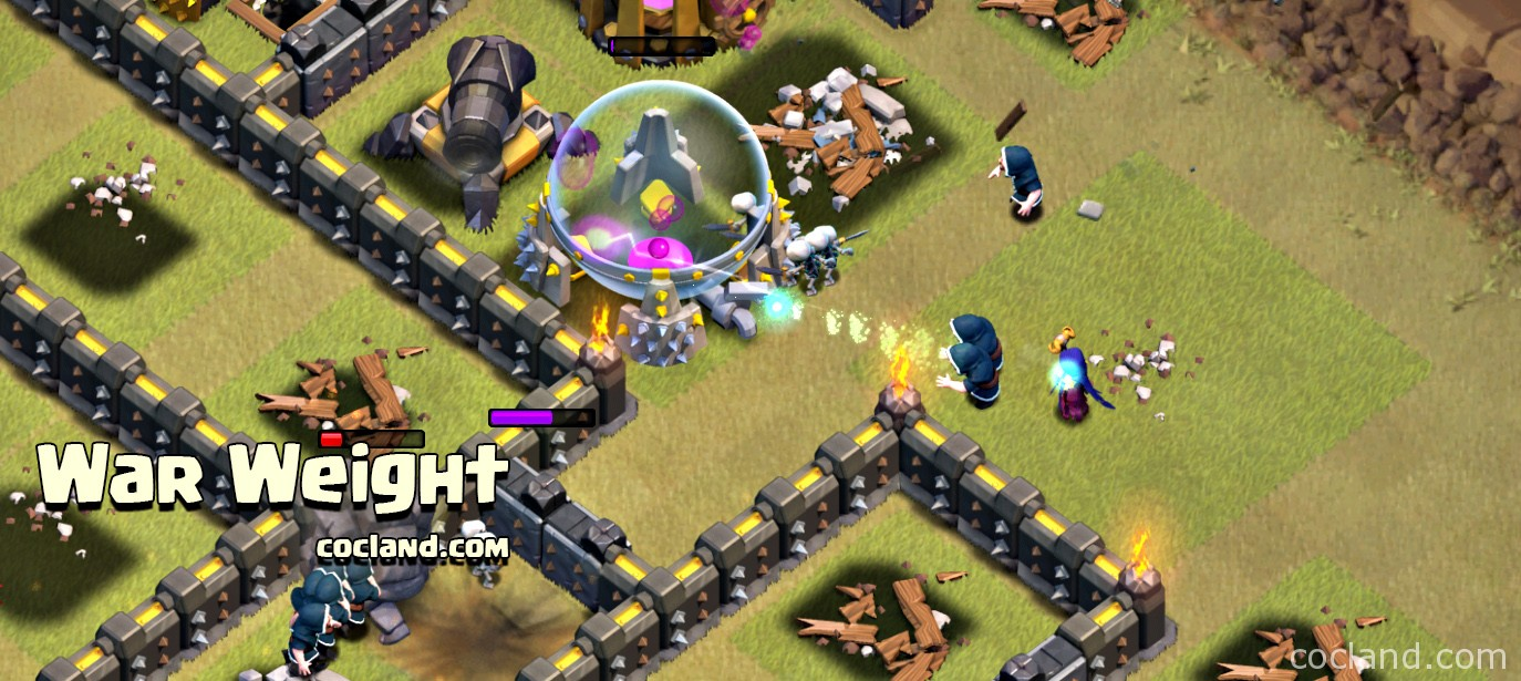 War weight in Clash of Clans