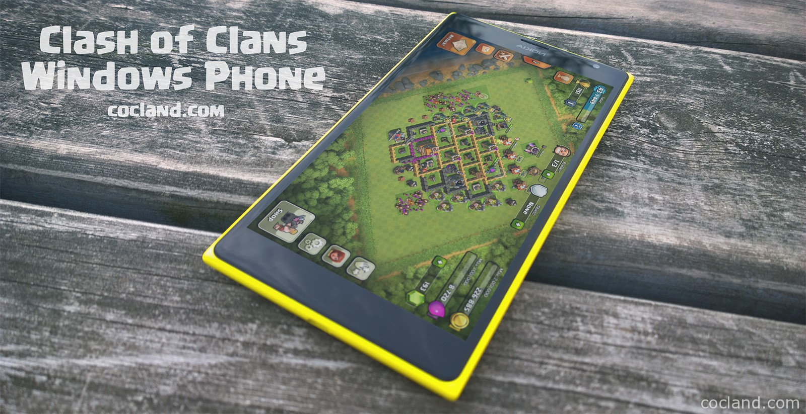 Playing Clash of Clans on Windows Phone