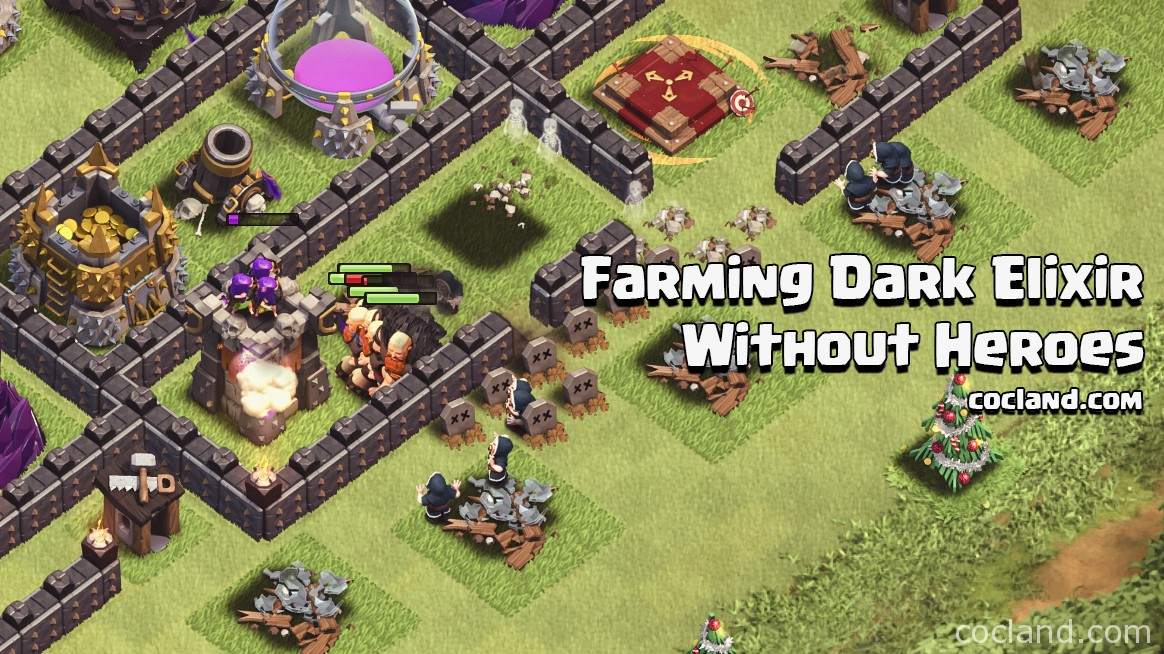 Farming Dark Elixir without Heroes