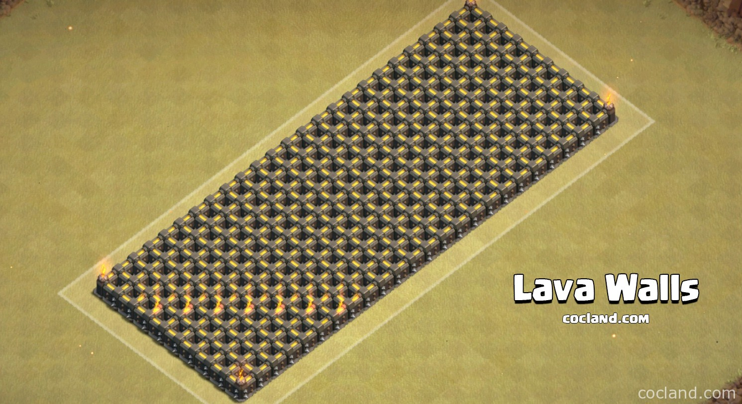 Lava Walls Clash of Clans