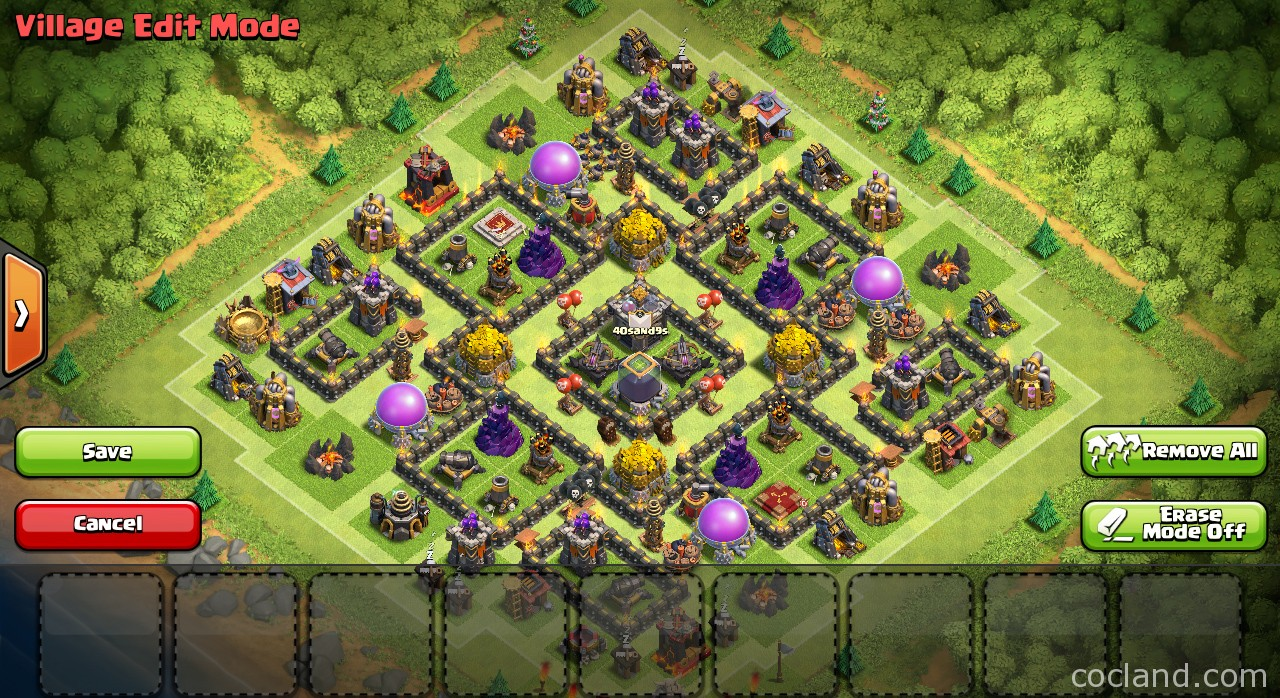 Attractive Th9 Home Base Design Part - 2: Nine Lives Base For TH9