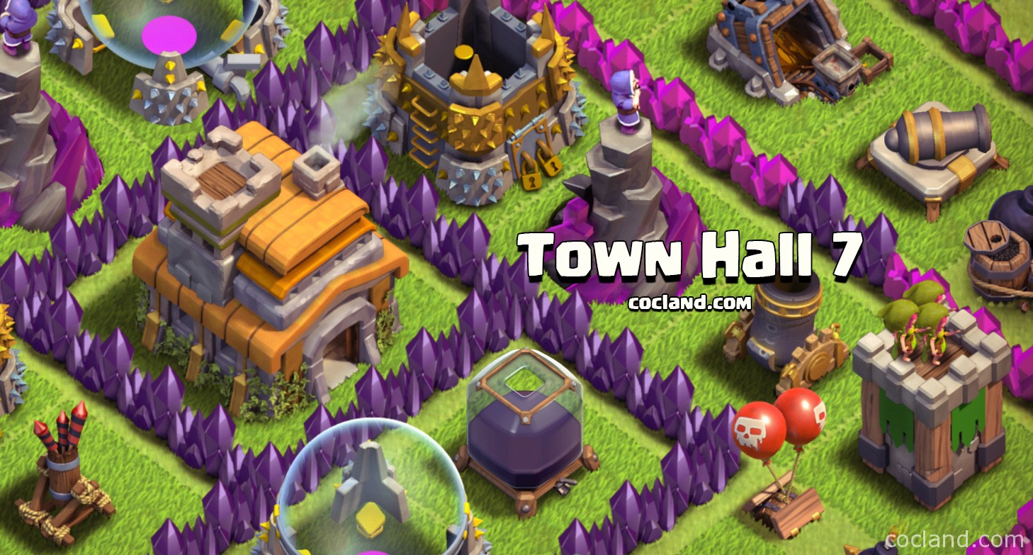 advanced town hall 7 guide clash of clans land