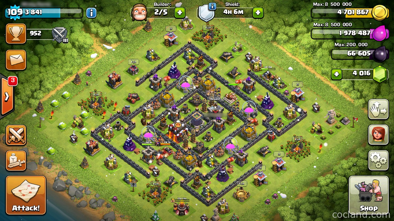 Clash Of Clans Base Builder Town Hall 4