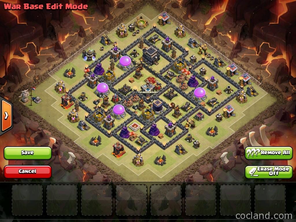 War Coc Th 9 Best Base 10