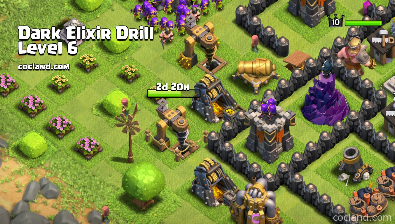 Upgrading Dark Elixir Drill