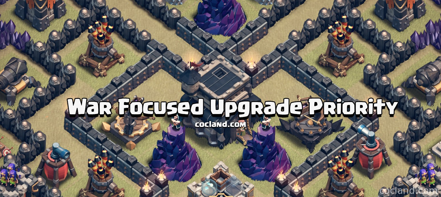 Clash of Clans War Focused Upgrade Priority