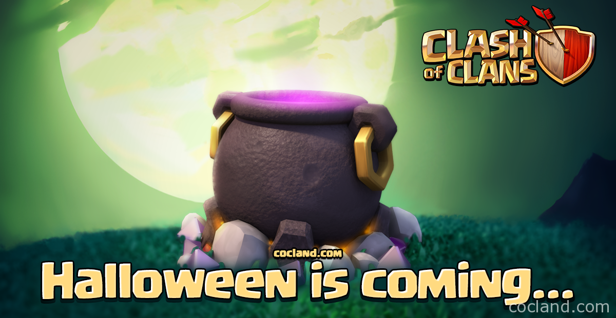 halloween cauldron clash of clans