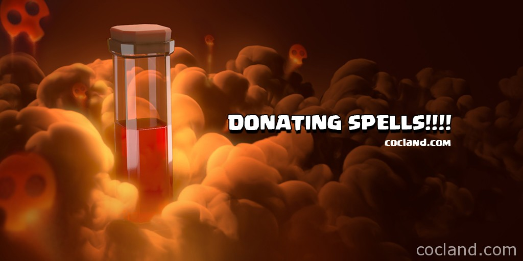 Donating Spells in Clash of Clans