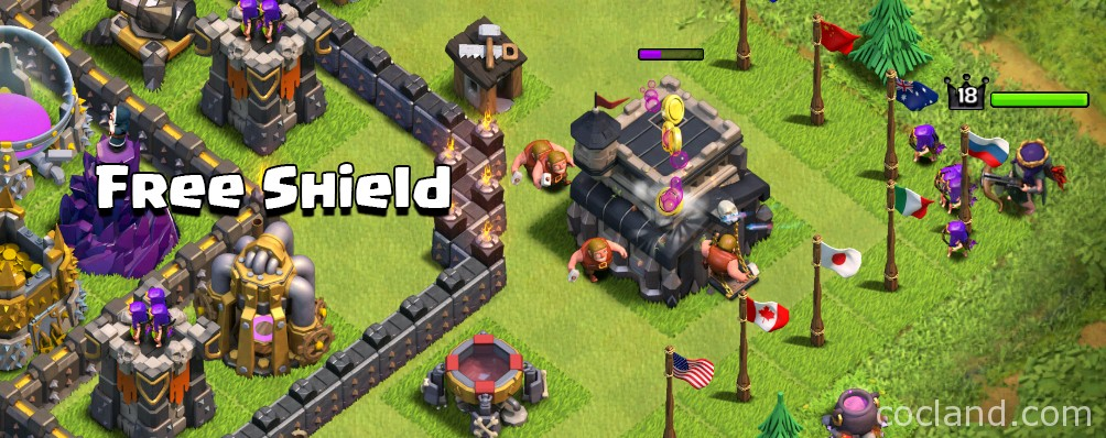 Free Shield in Clash of Clans