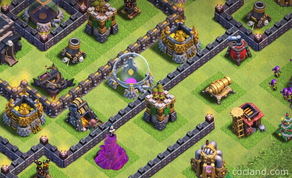 new farming layout collection with town hall inside base clash of clans land