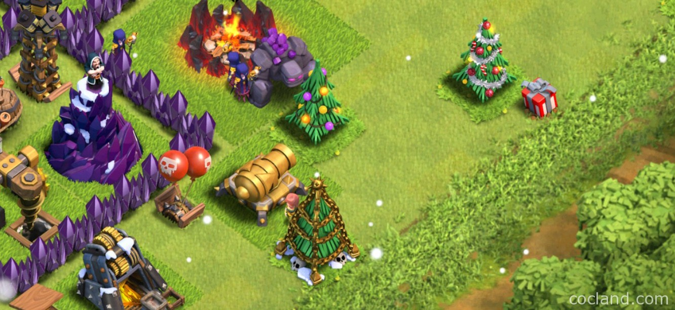 All Coc Christmas Trees.Christmas Tree Clash Of Clans Land