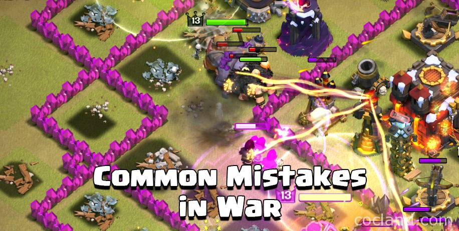 Common Mistakes in Clan Wars