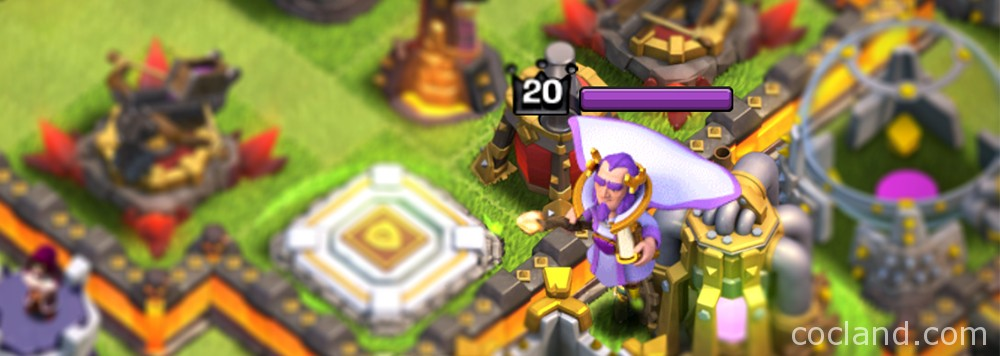 Clash of Clans Grand Warden Flying