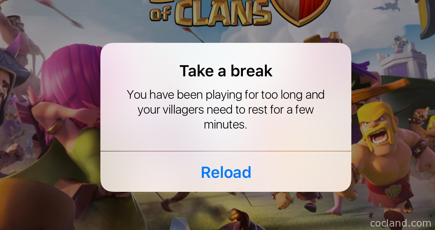 Clash of Clans Take a Break