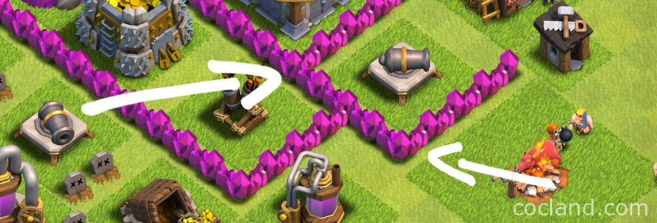 T-Junction in Clash of Clans